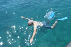Andy snorkelling