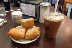 New Orleans Beignet and Iced Coffee