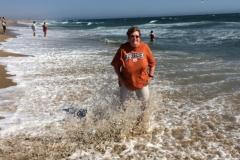 Paddling in the Pacific Ocean