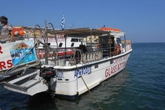 Glass bottomed boat Chania Harbour