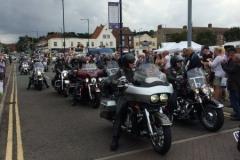 Bikers rally in Sheringham