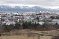 View of Reykjavik and mountains
