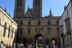Castle with view of Lincoln Cathedral